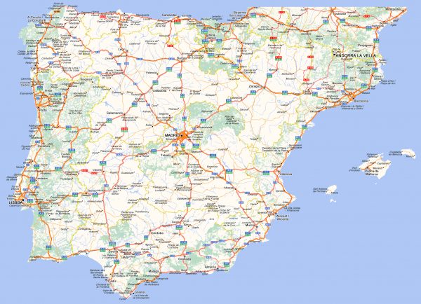 Mapa de carreteras de España