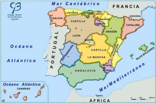 Mapa de España por comunidades