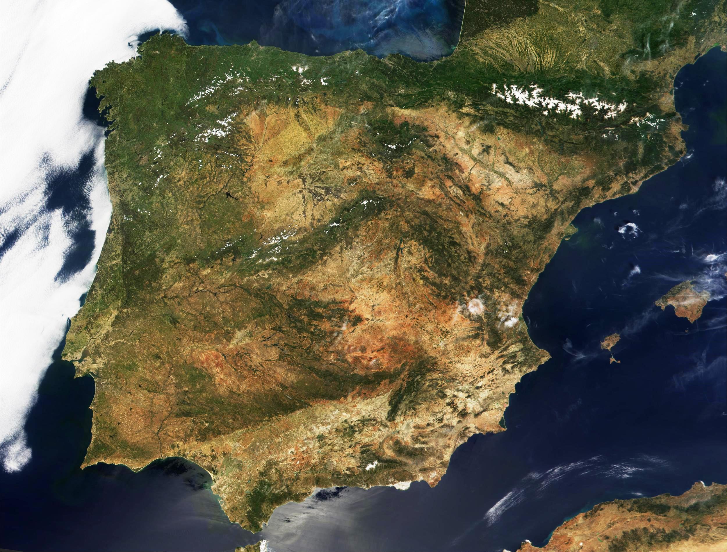Mapa Satelital De Espana Mapa De Espana
